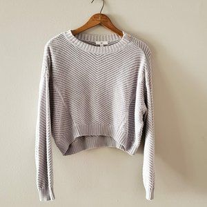 BP Diamond Weave Cropped Dolman Sweater XXS